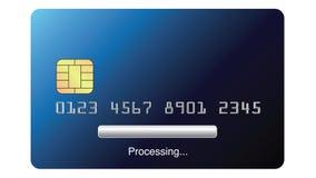 第2平生气蓬勃处理在网上购物和支付与在白色背景的一张信用卡 股票视频
