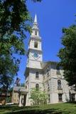 第1座施洗约翰教堂华美的建筑学, 18世纪教堂,上帝,罗德岛州, 2015年 图库摄影