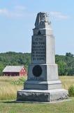 第10座纽约步兵纪念碑在葛底斯堡,宾夕法尼亚 免版税库存照片