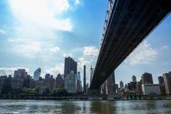 第59座街道桥梁(爱德科赫皇后区大桥) 库存图片