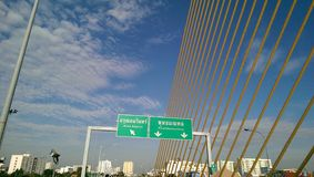 第8座Rama桥梁在泰国 免版税库存照片