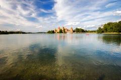 第14开始的城堡世纪建筑海岛立陶宛石trakai是 免版税库存图片