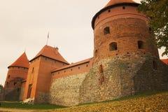 第14开始的城堡世纪建筑海岛立陶宛石trakai是 免版税库存照片