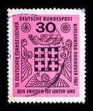 第13德国福音派教会天, serie,大约1967年 免版税图库摄影
