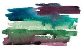 第2手拉的水彩背景 免版税库存照片