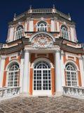 第18是世纪计数庄园kuskovo纪念碑莫斯科住宅俄国sheremetyev夏天对使用的唯一 免版税库存照片
