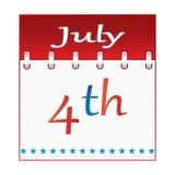 第4 7月日历。 免版税库存照片