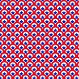 第4 7月爱国红色白色蓝星样式 免版税库存图片