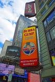 第7条大道和西部第44条街道的曼哈顿中城餐馆 库存照片