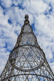 第16结构被建立的大教堂世纪设计圆顶山墙被启发的调解莫斯科命名正式葱红色暴乱屋顶俄国s视域位于的方形帐篷木材传统twistling是哪些 库存图片