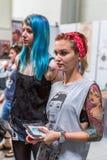 第10次国际纹身花刺大会的参加者在国会商展中心 免版税库存图片