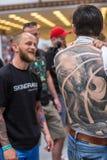 第10次国际纹身花刺大会的参加者在国会商展中心 库存照片