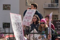 第2每年妇女` s 3月-团结 库存照片