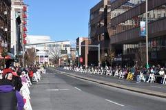 第20每年瑞银感恩游行壮观,在斯坦福德,康涅狄格 免版税图库摄影