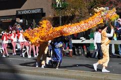 第20每年瑞银感恩游行壮观,在斯坦福德,康涅狄格 免版税库存图片