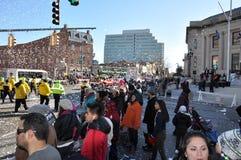 第20每年瑞银感恩游行壮观,在斯坦福德,康涅狄格 库存图片