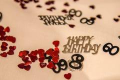 第60生日五彩纸屑 图库摄影