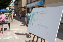 第2生日美术画廊Warzywniak。 库存照片