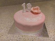 第18生日蛋糕 免版税库存图片