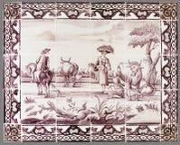 从第16的荷兰瓦片到18世纪 免版税库存照片
