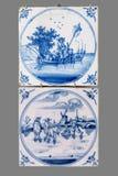 从第16的荷兰瓦片到18世纪 库存图片