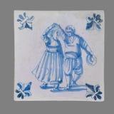 从第16的荷兰瓦片到18世纪 免版税库存图片