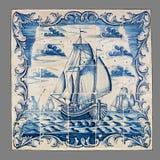 从第16的荷兰瓦片到18世纪 图库摄影
