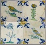 从第16的荷兰瓦片到18世纪 免版税图库摄影