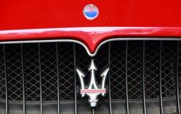第14第16对西部的2011第25个成都瓷徽标maserati马达路s 9月显示 免版税库存照片