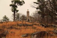 第12 &第44纽约志愿纪念碑在一点回合 库存图片