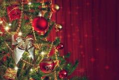 2010第28背景圣诞节12月详细资料查出在照片被采取的结构树白色 图库摄影
