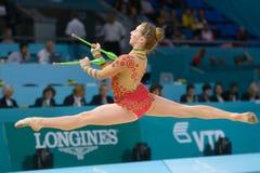 第32节奏体操世界冠军 图库摄影