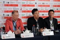 第39莫斯科国际影片竞赛新闻会议  免版税库存照片