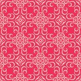 第2阻拦了带红色桃红色基本的无缝的样式背景例证 免版税图库摄影