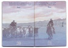 美国护照空白页 免版税库存照片