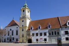老城镇厅,布拉索夫,斯洛伐克 库存图片