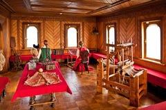 第17 centur的传统家庭内部俄国贵族政府 免版税图库摄影