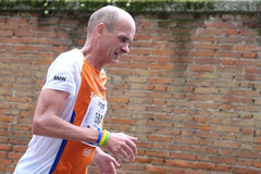 第28 Venicemarathon :非职业边 免版税库存图片