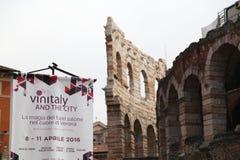 第50 Vinitaly酒陈列在维罗纳-意大利 免版税库存图片