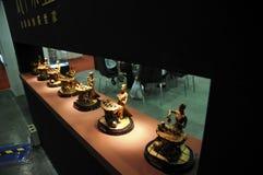 第1个2011个古铜色逆csitf雕塑 库存图片
