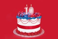 第10个蛋糕 库存照片