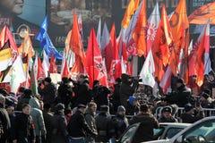 第10 2012次行军会议莫斯科反对 库存图片
