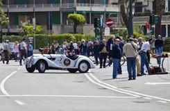 第11条电路赛跑葡萄酒的热那亚 库存图片