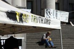 第11 9 11 2009年演示9月温哥华 免版税库存图片