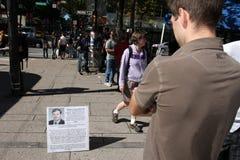 第11 9 11 2009年演示9月温哥华 免版税图库摄影