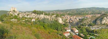 第12座c城堡的方形塔, 免版税库存照片