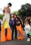 第14第19 2010威严的游行街道苏黎世 免版税库存图片
