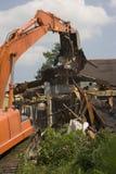 第17条运河损坏了洪水家庭最近的新奥尔良街道 免版税库存照片