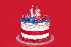 第18个蛋糕 库存照片
