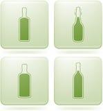 第2酒精装瓶图标橄榄石三角板 免版税库存图片